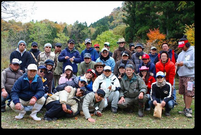 2008年11月9日AFA釣り大会集合写真