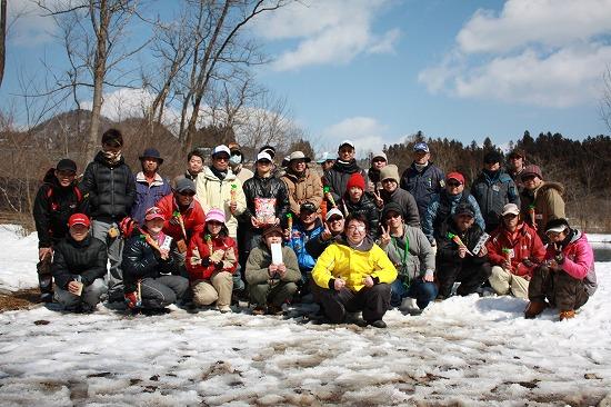 2011年AFA春の釣り大会集合写真