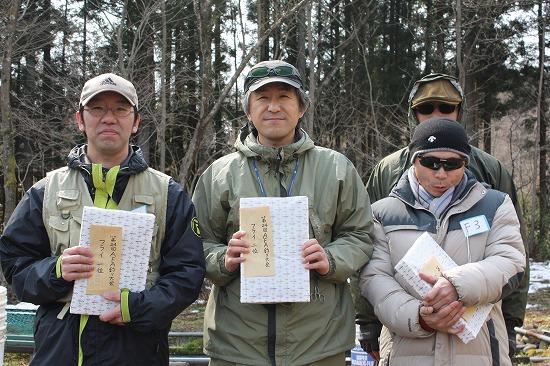 AFA釣り大会フライ入賞者の皆さん