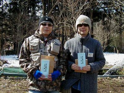 AFA釣り大会フライ1位阿部さんと2位中川さん